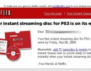Netflix PS3 Instant Streaming Discs Shipped