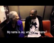 Jay-Z Talks To An Old Lady on the Subway